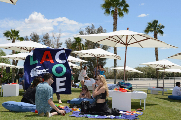 THERMAL, CA - APRIL 14:  A general view of the atmosphere at day 1 of LACOSTE L!VE Hosts a desert pool party in celebration of Coachellaon April 14, 2012 in Thermal, California.  (Photo by Chris Weeks/WireImage)