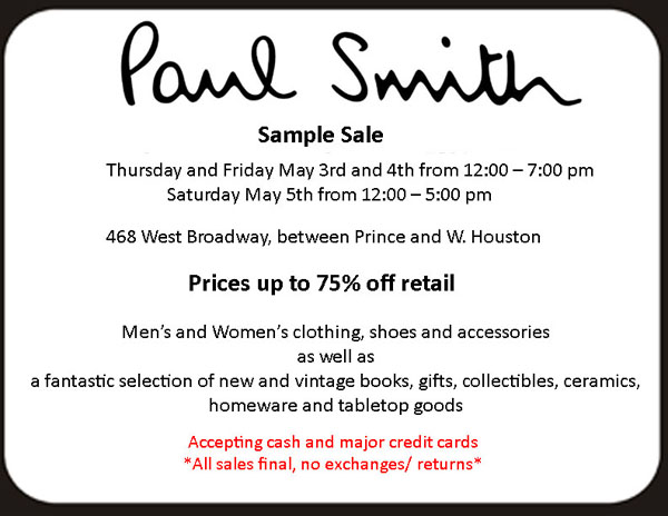 Paul Smith Sample Sale