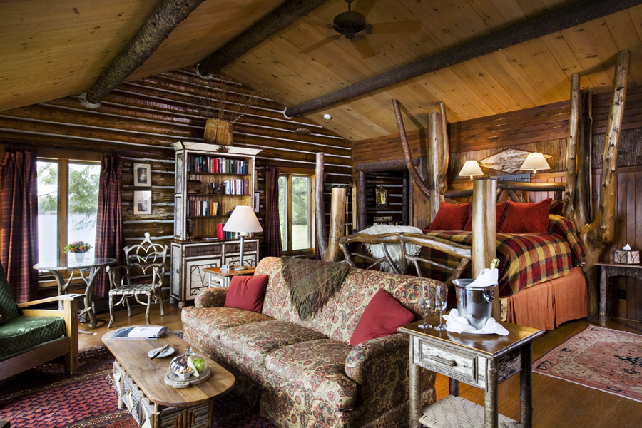 Artisan design takes over the exclusive lake placid lodge for Adirondack cabin builders