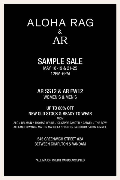 Aloha Rag Sample Sale