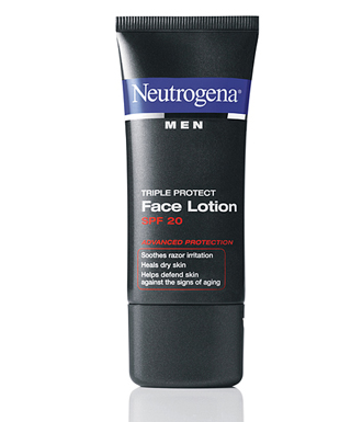 Mens sunscreen lotion