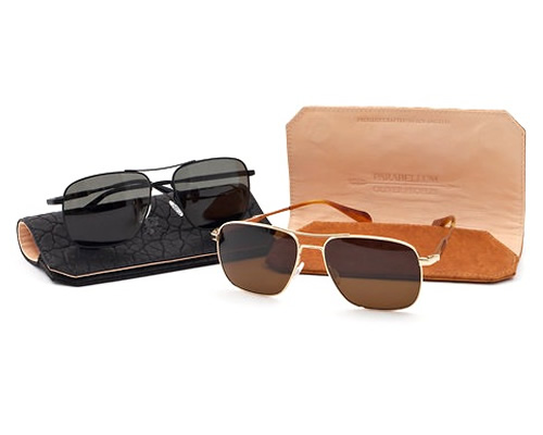 OLIVER PEOPLES PARABELLUM LIMITED EDITION AVIATOR MENS SUNGLASSES
