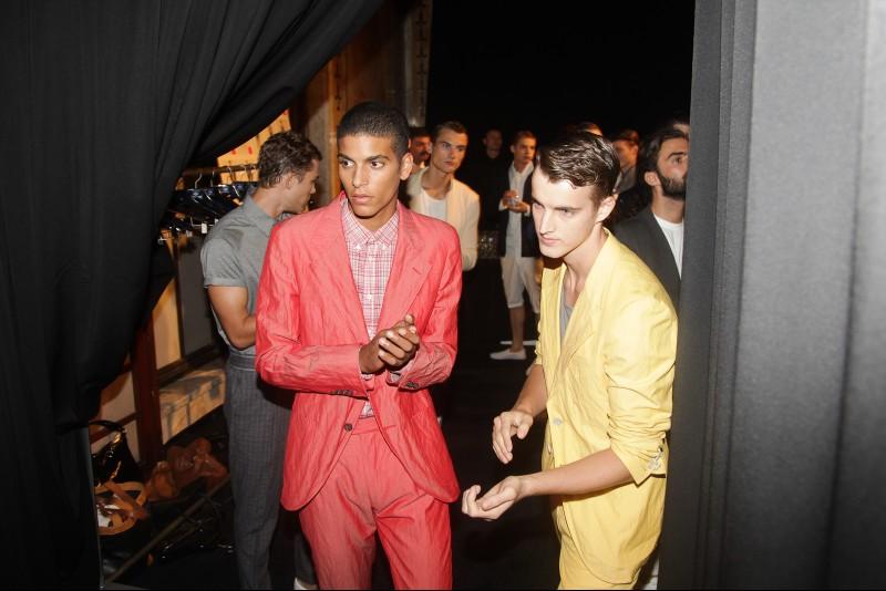 Joseph Abboud Spring Summer 2013 Models Backstage