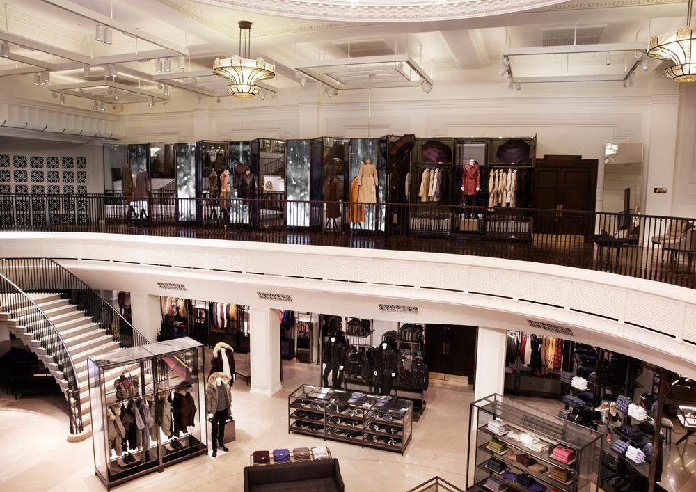 burberry regent street - the store - digital gallery