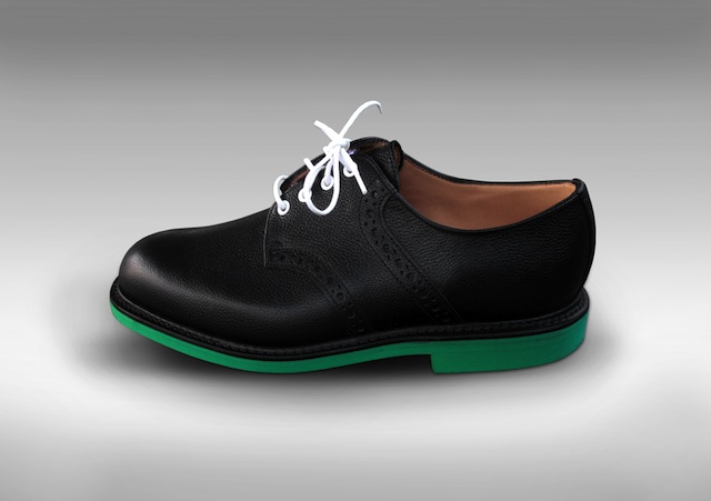 Mark McNairy Heineken Union LA Kelly Green Beer Saddle Leather Shoes