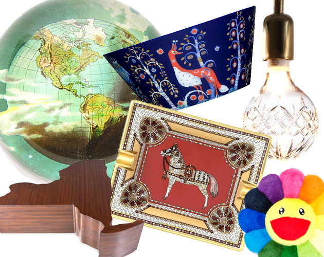 inexpensive unexpected home decor gifts gift guide ash tray bowl coffee table crystal bulb pillow tray chic