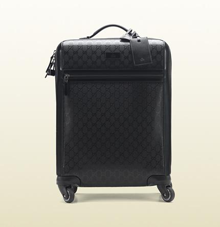 Gucci Viaggio Carry On Suitcase Four wheeled travel bag designer nylon