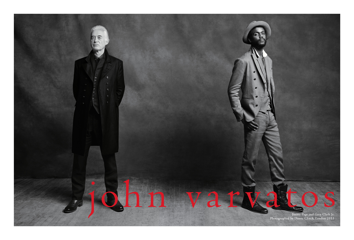 John varvatos Spring 2013 ad campaign gary clark jr led zepplin jimmy page rock and roll hall of fame legends london danny clinch