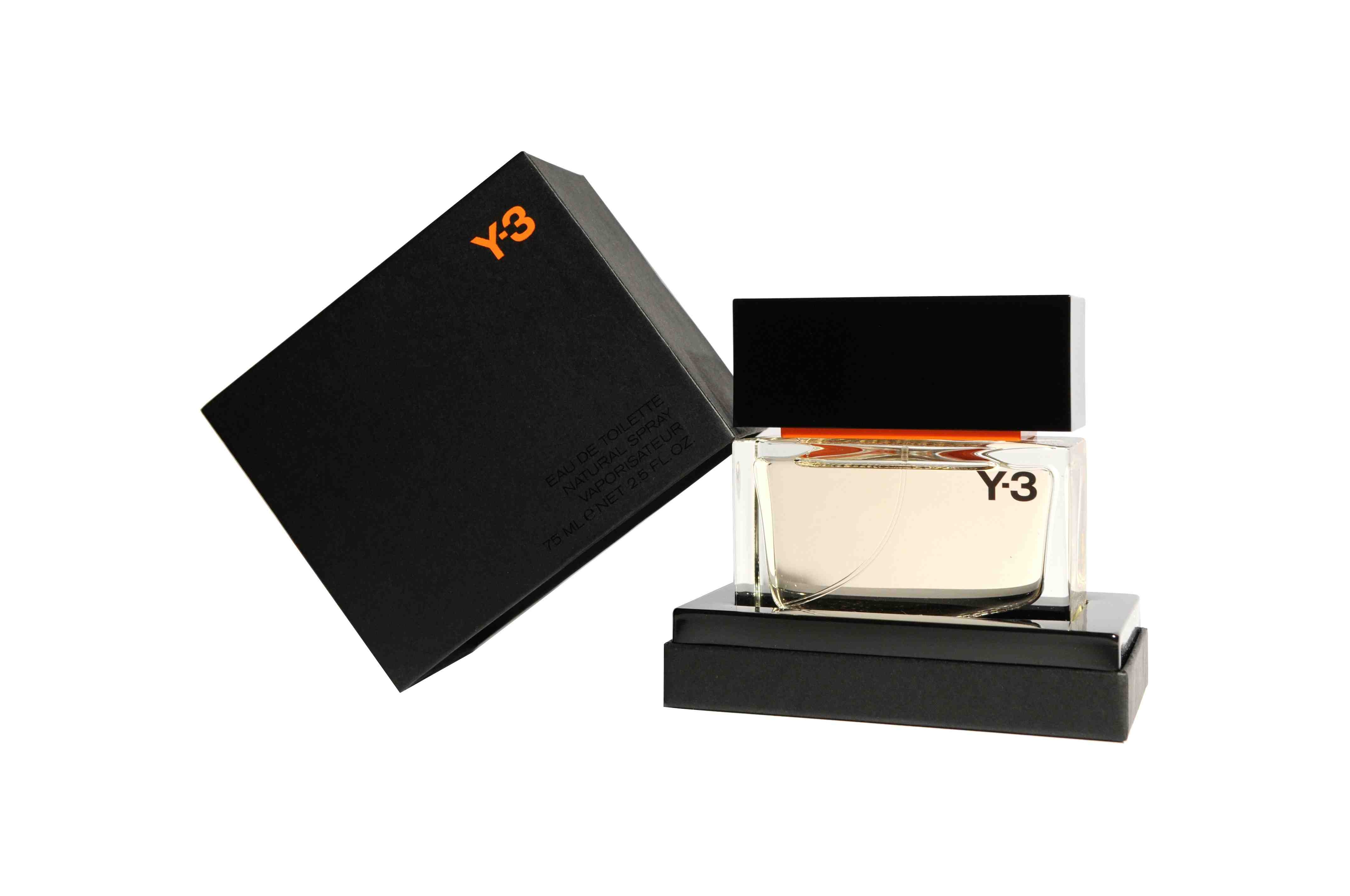 Y-3 Black Label Men's Fragrance designer Yohji Yamamoto Adidas scent cologne tagete elemi pine cardamom cedar wood lavandin black pepper patchouli vetiver tonka vanilla