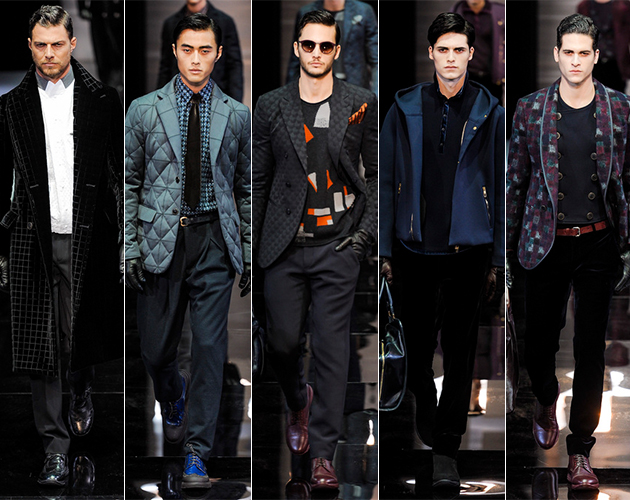 Giorgio Armani Fall 2013 Menswear runway milan fashion week pitti uomo male models