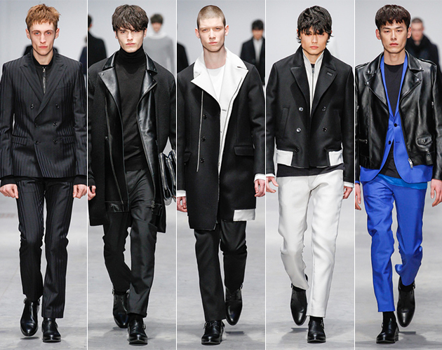 costume national men's fall 2013 runway show pitti uomo male models italy milan rebellion