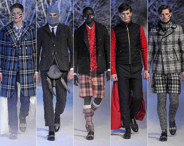 moncler gamme bleu fall 2013 mens pitti uomo thom browne scottish highlands designer runway models