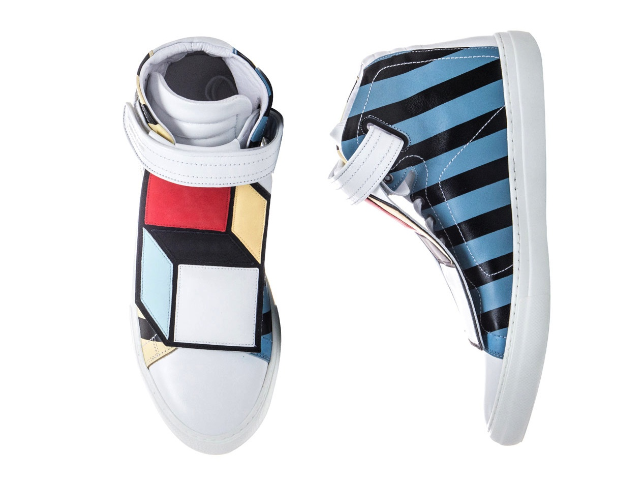 Pierre Hardy Limited Edition Hi Top Sneakers Cube applique buy sell purchase cost price reelase launch availalbe