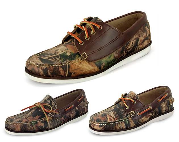 Eastland RealTree Advantage Timber Yarmouth Leather boat shoe moccasin slip on summer camo made in the usa made in america mens style sale buy purchase price release