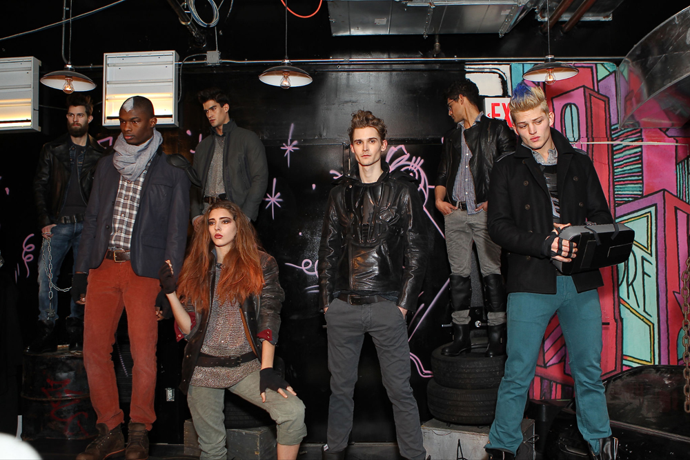 Gilded Age Stephan Miljanic Standard Hotel East Village Menswear Fall 2013 Fashion Week mad max future