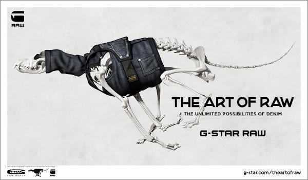 G-Star Art of Raw Denim Campaign video skeleton Dog Skrillex