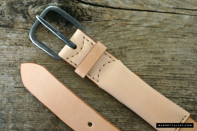 Barrett Alley Smuggler's Belt Leather Vegetable Dye menswear made in the usa america iron hidden pocket travel price buy cost purchase release find