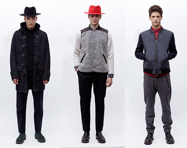 Timo Weiland Menswear Fall 2013 New York Fashion Week Presentation models