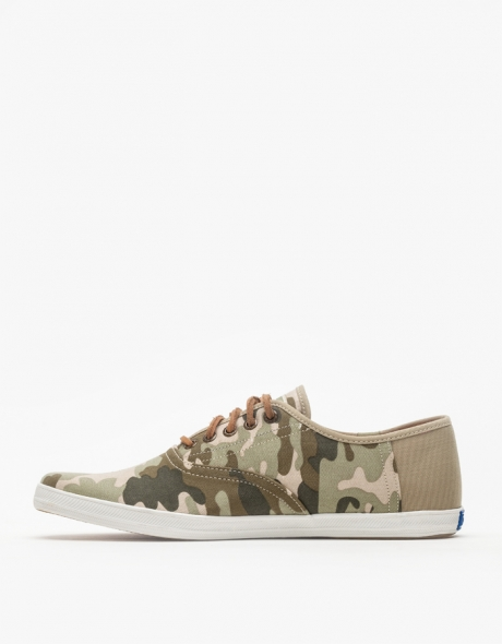 Keds Champion Half Back Camo Plimsoll Classic Summer sneakers for men lace up cotton twill light slip on