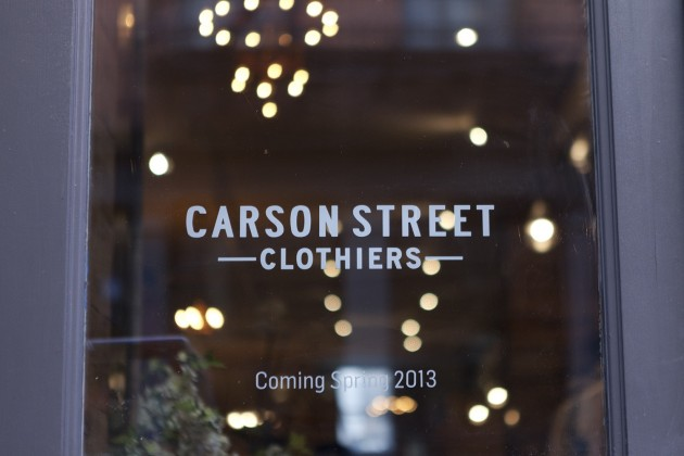 Carson Street Clothiers Soho New York opening launch release location address brands