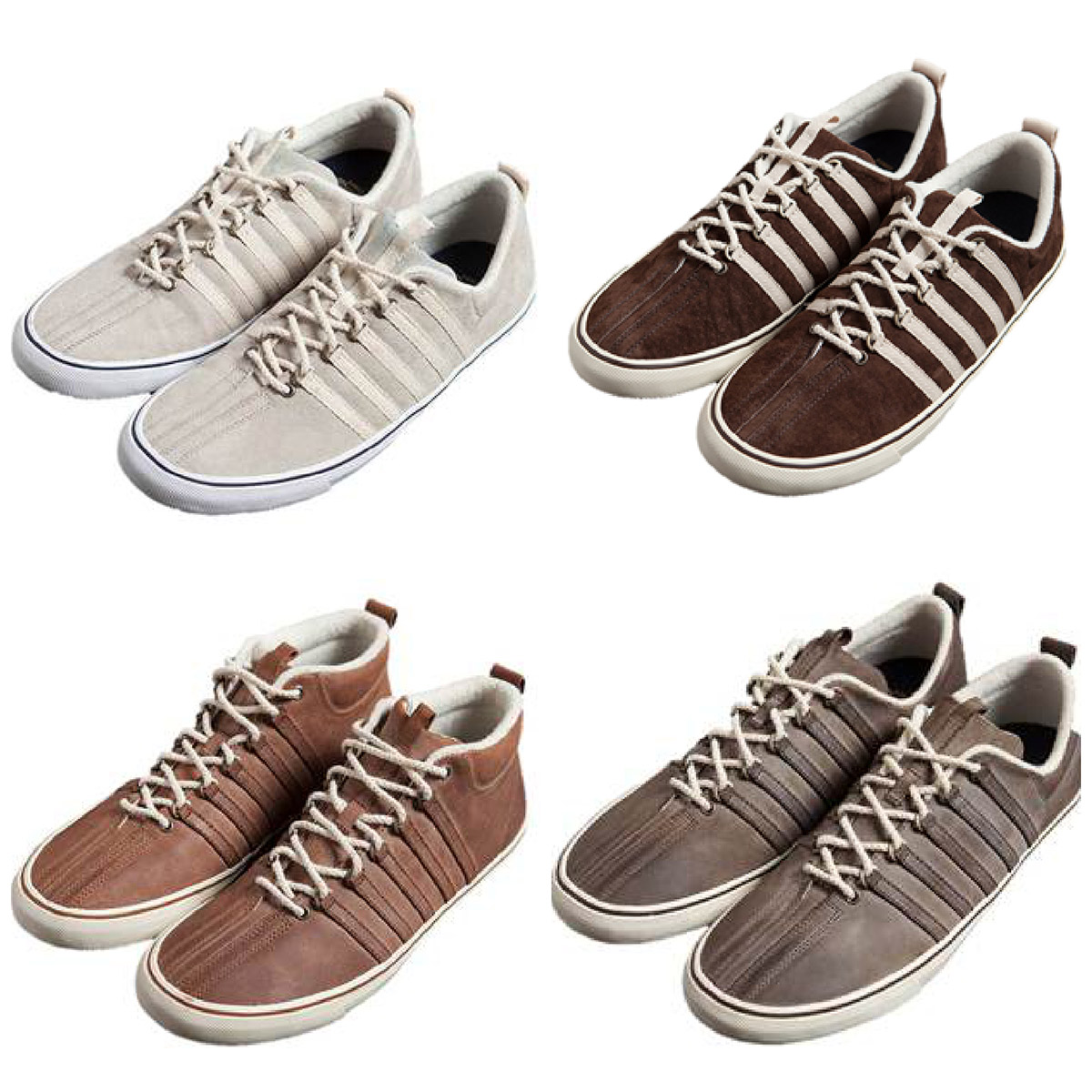 Billy Reid for K-Swiss price purchase sale cost buy store retail launch release bone chocolate wax leather collection