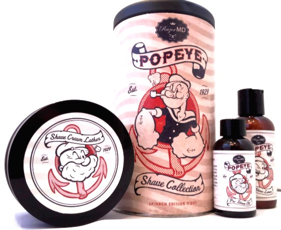 Popeye Razor MD shaving set limited edition father's day gift ideas shave cream after shave lotion shave oil