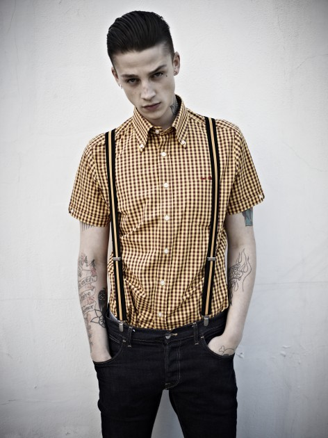 Brutus Trim Fit Shirt Dr Martens mod suedehead punk rock retro british heritage release launch buy purchase store