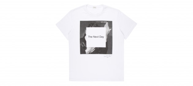 David Bowie Paul Smith The Next Day Official T Shirt release launch sale buy purchase price Jonathan Barnbrook