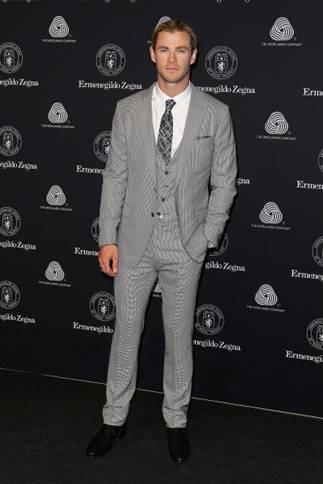 Chris Hemsworth in Ermenegildo Zegna Suit Wool Trophies Australia