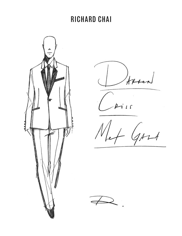 Darren Criss Metropolitan Museum of Art Costume Institute Exhibition Punk: Chaos to Couture. Richard Chai
