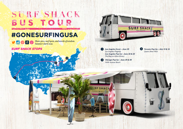 Tommy Hilfiger Surf Shack Tour Dates and Locations Gone Surfing USA