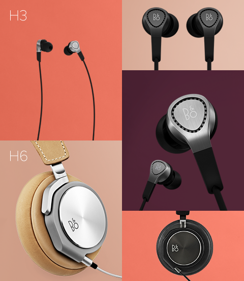 Bang & Olufsen Play H6 H3 headphones ear buds cans over the head luxury drivers unibody strong designer