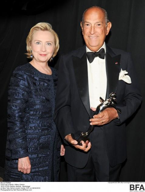 Hillary Clinton Oscar de la Renta CFDA awards 2013