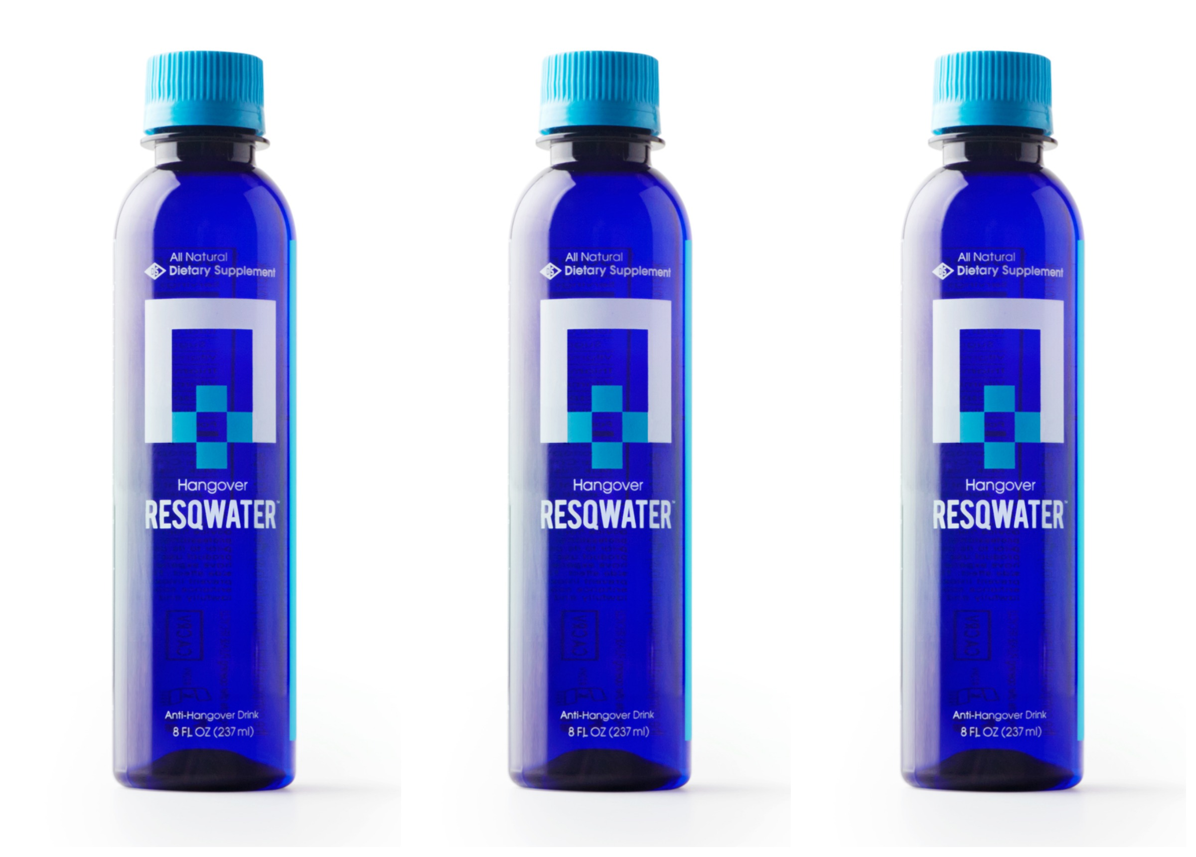Resqwater hangover drink vitamins minerals acetaldehyde caffeine free amino acids buy purchase store price