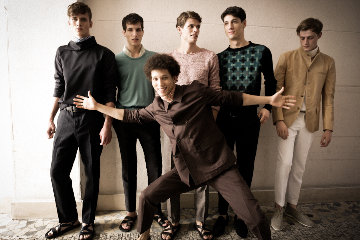 Corneliani SS'14 Backstage