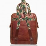 Insubordinate Lads Ellsworth Backpack Tote Leather Waxed Canvas Camo