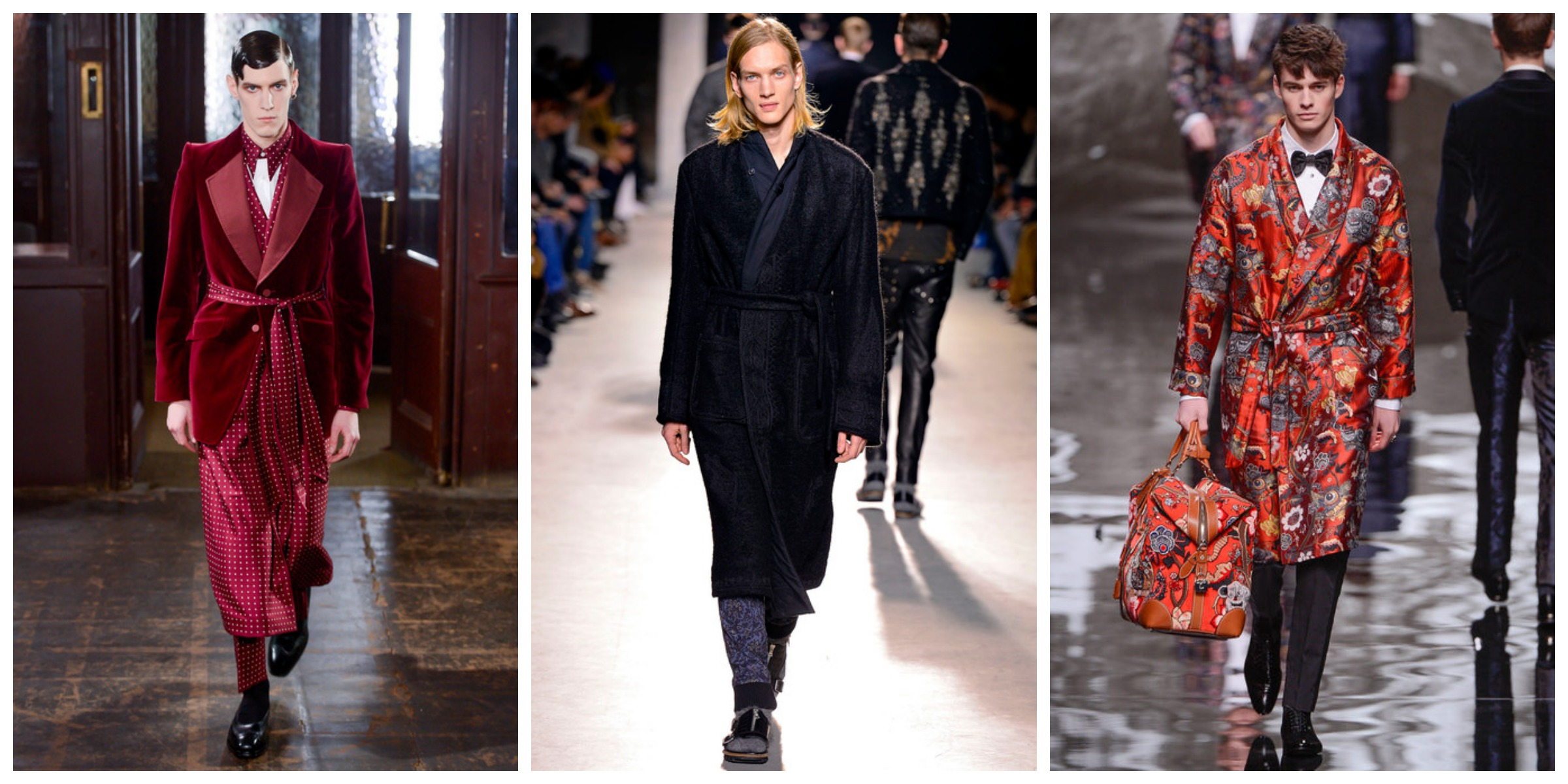 Pajama Party Lead Dries Van Noten Alexander McQueen Louis Vuitton Fall 2013