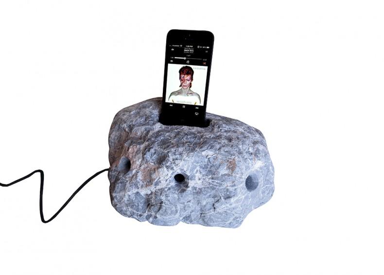 Alexandre de Betak's Stone Pod Speaker, part of this year's exhibition.