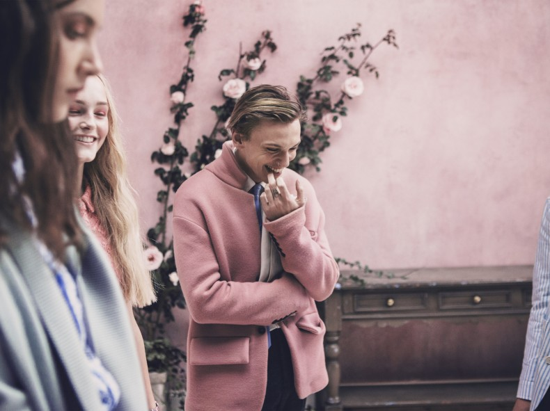 Jamie Campbell Bower behind the scenes on the Burberry Spring_Summer 2014 campaign