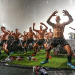New Zealand Rugby Team Wins Game, Removes Shirts, Dances in Rain