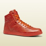 Gucci's Refreshingly-Orange Diamante Leather High-Tops