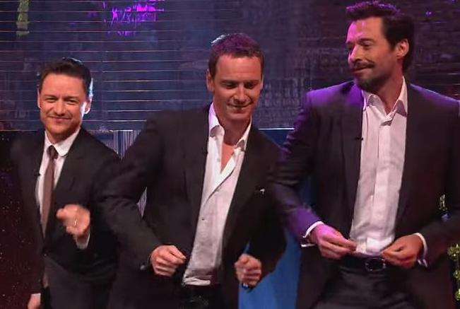Hugh-Jackman-Michael-Fassbender-James-McAvoy-dance-to-Blurred-Lines-VIDEO