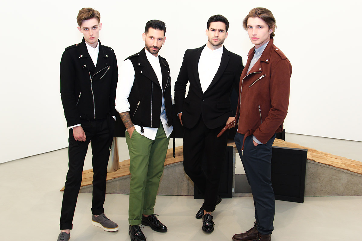 Declan Cullen, Joshua Katcher, Andre Watson, Tyler James models courtesy of Q Model Management wearing Brave GenleMan