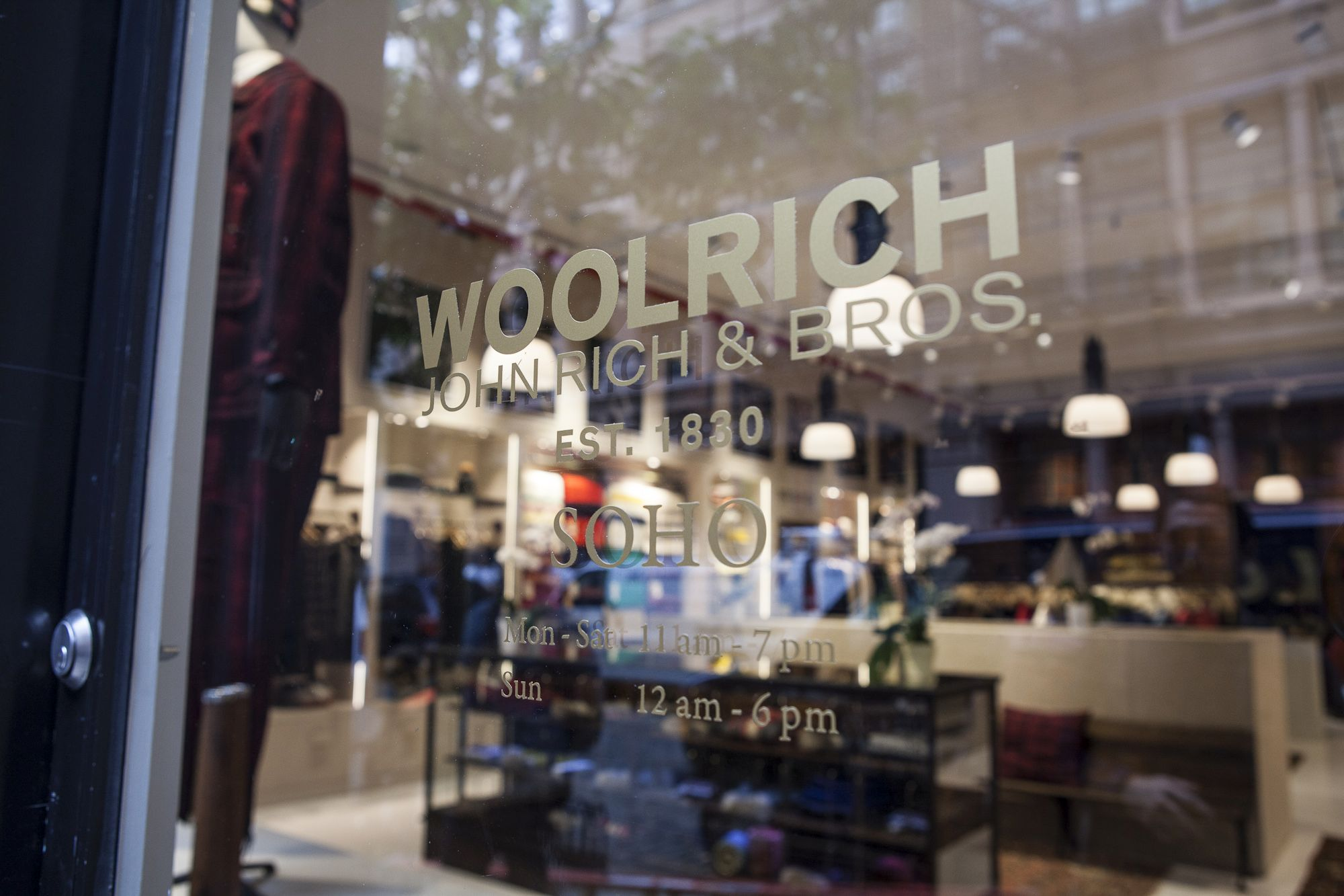Woolrich London Sale