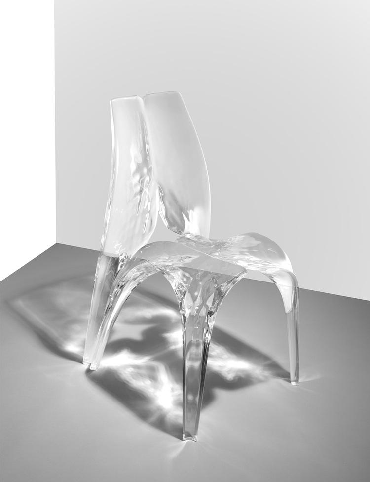 Zaha Hadid - Chair 'Liquid Glacial' - David Gill Gallery