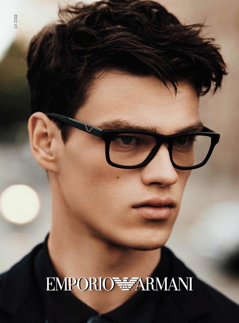 5b56030e1baf Emporio Armani Spring Summer 2016 Eyewear CampaignEssential Homme ...