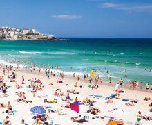 New year's day at famous Bondi beach, Sydney, New South Wales, Australia.