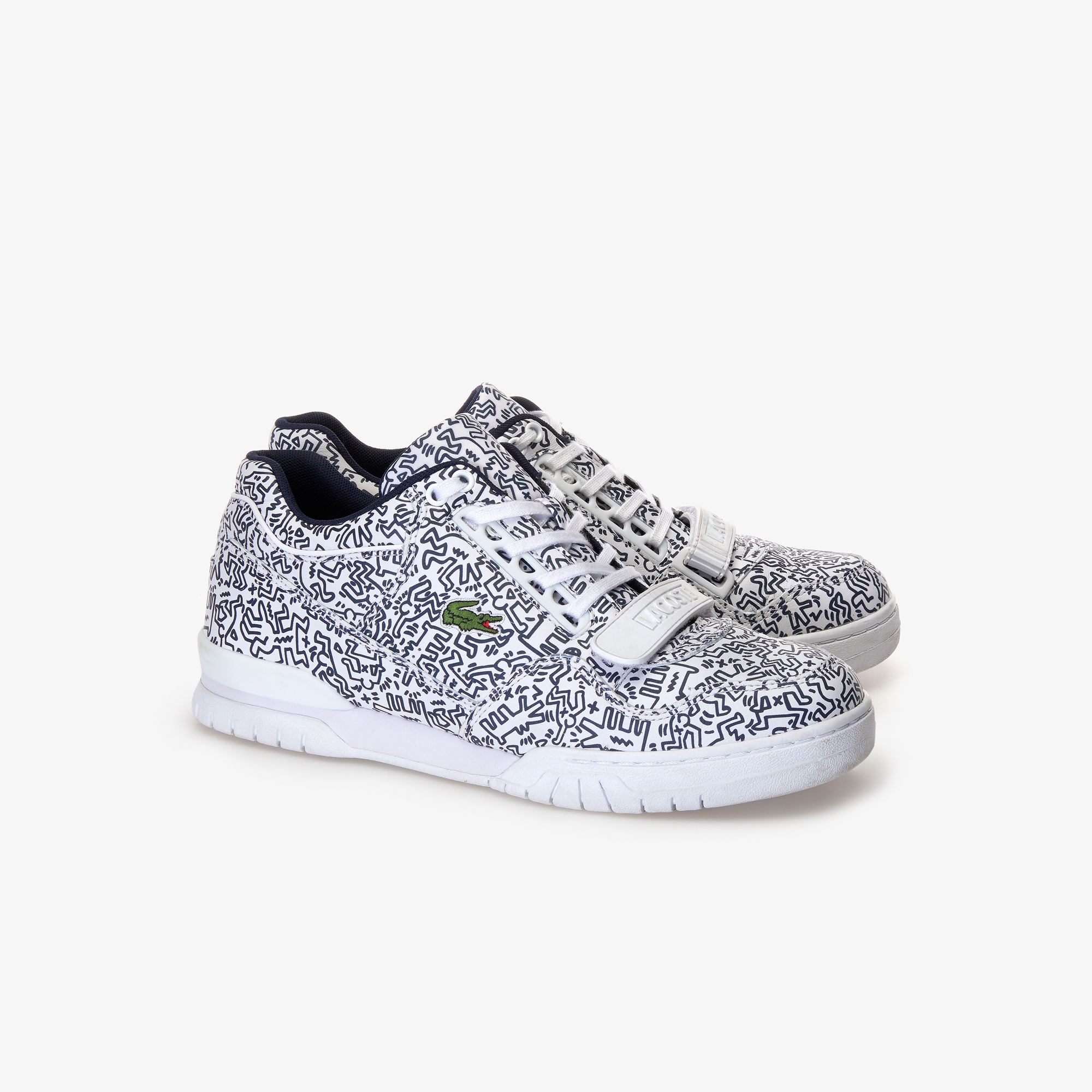Lacoste x Keith Haring Missouri 119 1 KH SMA WHT-NVY $159.95