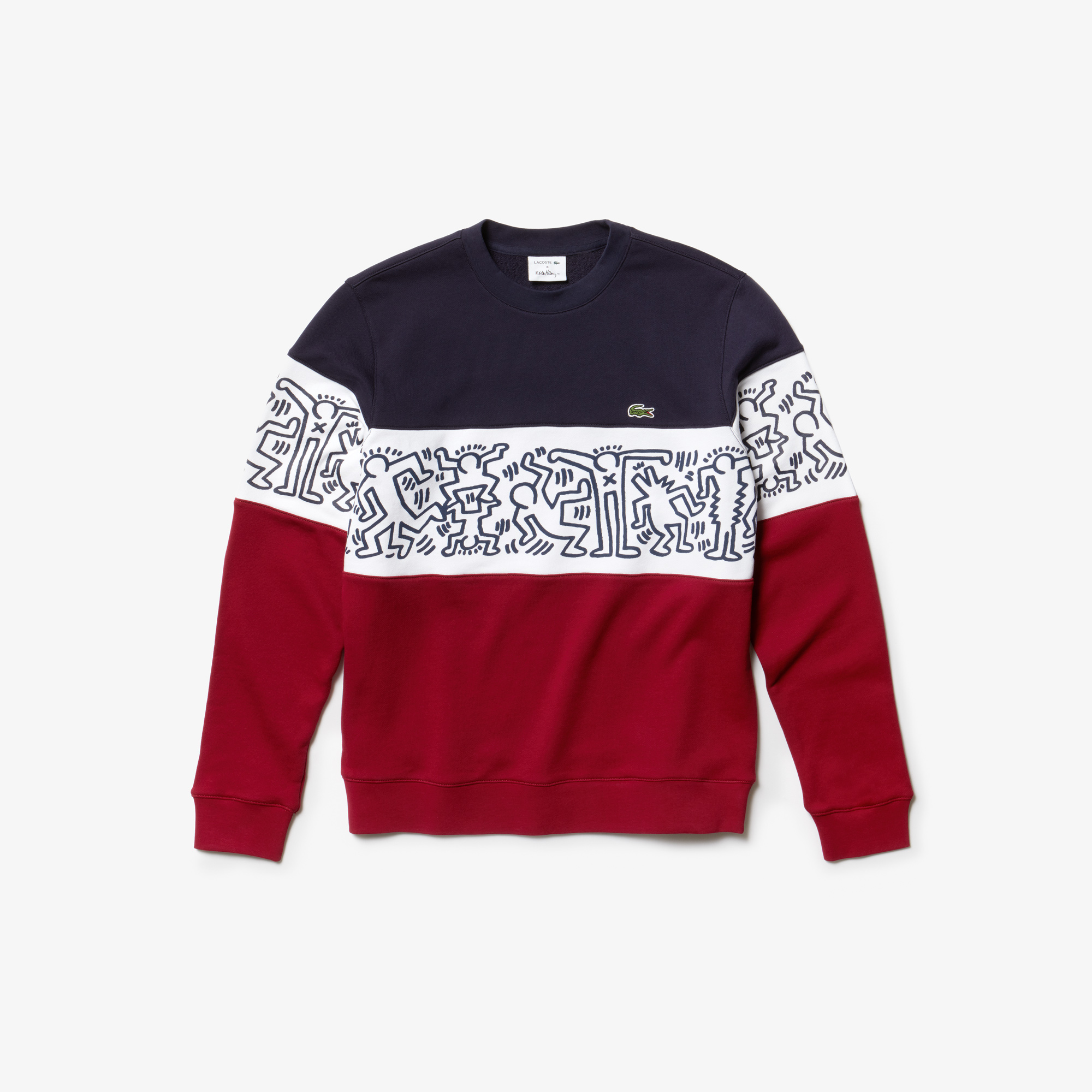 Long Sleeve French Terry Graphic Colorblock Sweater $185 (1)