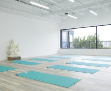 Surf Lodge yoga studio in the Hamptons